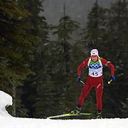 Winter Olympics, Vancouver, 2010. Tora Berger, Norway, in action during the Women's 7.5 KM Sprint Biathlon at The Whistler Olympic Park, Whistler, during the Vancouver  Winter Olympics. 13th February 2010. Photo Tim Clayton
