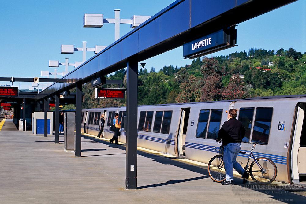 BART Train at the Lafayette Station, Lafayette, CALIFORNIA