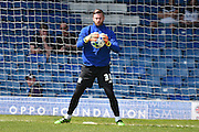 Bury On loan Goalkeeper, Chris Neal warms up before the Sky Bet League 1 match between Bury and Southend United at the JD Stadium, Bury, England on 8 May 2016. Photo by Mark Pollitt.