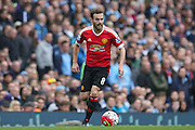 Juan Mata of Manchester United during the Barclays Premier League match between Manchester City and Manchester United at the Etihad Stadium, Manchester, England on 20 March 2016. Photo by Phil Duncan.