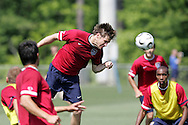 17 May 2006: Forward Brian McBride (center). The United States' Men's National Team trained at SAS Soccer Park in Cary, NC, in preparation for the 2006 World Cup tournament to be played in Germany from June 9 through July 9, 2006.