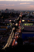 Goiania _ GO, Brasil...Vista panoramica de Goiania ao anoitecer...The Goiania panoramic view at dusk...Foto: BRUNO MAGALHAES / NITRO