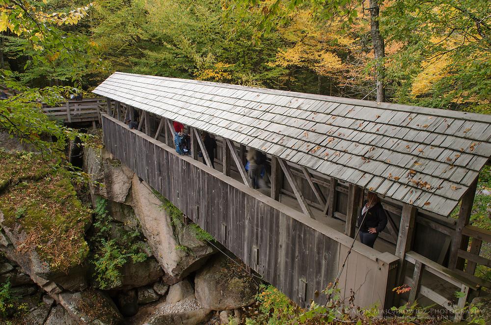Sentinel Pine Covered Bridge , Franconia Notch New Hampshire