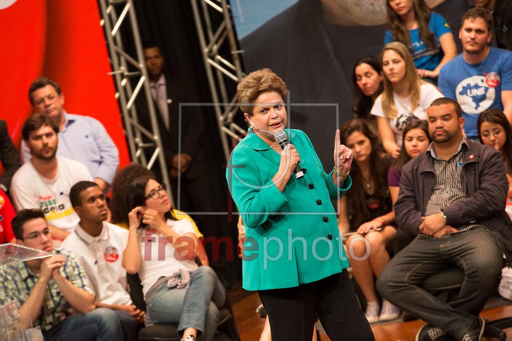 SÃO PAULO  - 11/08/2014 - Dilma Rousseff falou para estudantes universitários e representantes do movimento estudantil, na Uninove no bairro da Barra Funda. Foto: Juliana Knobel/Frame