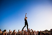 New Politics perform at 97X Next Big Thing on December 6, 2014 at Vinoy Park in St. Petersburg, Florida