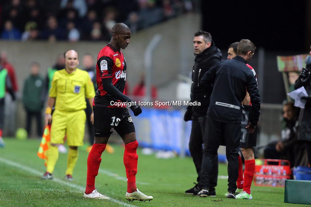 EXPULSION Younousse SANKHARE  - 24.01.2015 - Guingamp / Lorient - 22eme journee de Ligue1<br />Photo : Vincent Michel / Icon Sport *** Local Caption ***