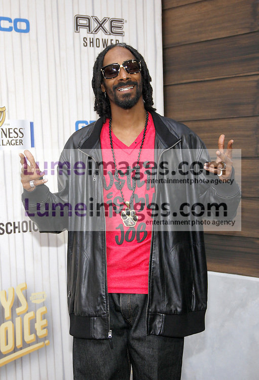 Snoop Dogg at the 2013 Spike TV Guys Choice Awards held at the Sony Pictures Studios in Culver City in Los Angeles, USA om June 8, 2013.