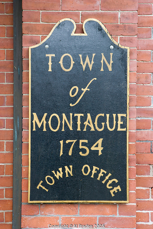 Town Offices, Town of Montague which includes Turner's Falls, MA along the Connecticut River.