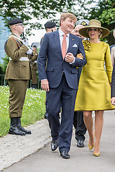 King Willem-Alexander of the Netherlands and Queen Maxima of the Netherlands during the wreath laying ceremony at Monument National de la Solidarité Luxembourgeoise, in Luxembourg, on the first of the 3 day state visit of the Dutch Royals to Luxembourg. 23 May 2018 Pictured: King Willem-Alexander of the Netherlands and Queen Maxima of the Netherlands during the wreath laying ceremony at Monument National de la Solidarité Luxembourgeoise, in Luxembourg, on the first of the 3 day state visit of the Dutch Royals to Luxembourg. Photo credit: MEGA TheMegaAgency.com +1 888 505 6342