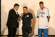 Milano, 18/07/2007<br /> Basket, Nazionale Italiana Maschile Senior<br /> Media Day Conferenza Stampa Hotel Visconti<br /> Nella foto: mimmo cacciuni Daniel Hackett stefano sacripanti<br /> Foto Ciamillo