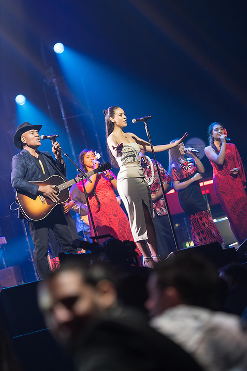 The Vodafone NZ Music Awards 2017 held on 16 November 2017 at the Spark Arena, Auckland.<br /> <br /> Images Copyright Topic Images Ltd. <br /> Credit Topic/ Hannah Rolfe