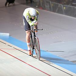 16-12-2016: Wielrennen: NK baanwielrennen: Apeldoorn  <br /> APELDOORN (NED) baanwielrennen<br /> Dion Beukeboom kwalificeerd zich als snelste voor de finale achtervolging