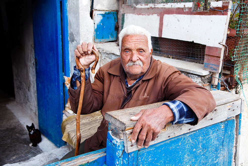 I told this pappou (grandfather) that for the photo I wanted to see Crete in his eyes. His Crete. He paused for  a moment, took a deep breath and...