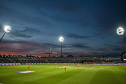 Edgebaston under the floodlights during the NatWest T20 Blast final match between Northants Steelbacks and Lancashire Lightning at Edgbaston, Birmingham, United Kingdom on 29 August 2015. Photo by David Vokes.