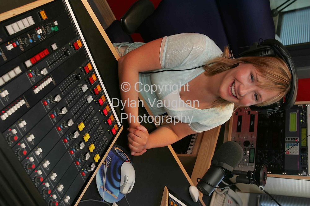 25/5/2004..Orla Rapple pictured at Beat FM in Waterford...Picture Dylan Vaughan.