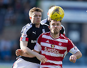 Dundee&rsquo;s Craig Wighton and Hamilton&rsquo;s Scott McMann - Dundee v Hamilton Academical in the Ladbrokes Scottish Premiership at Dens Park, Dundee, Photo: David Young<br /> <br />  - &copy; David Young - www.davidyoungphoto.co.uk - email: davidyoungphoto@gmail.com
