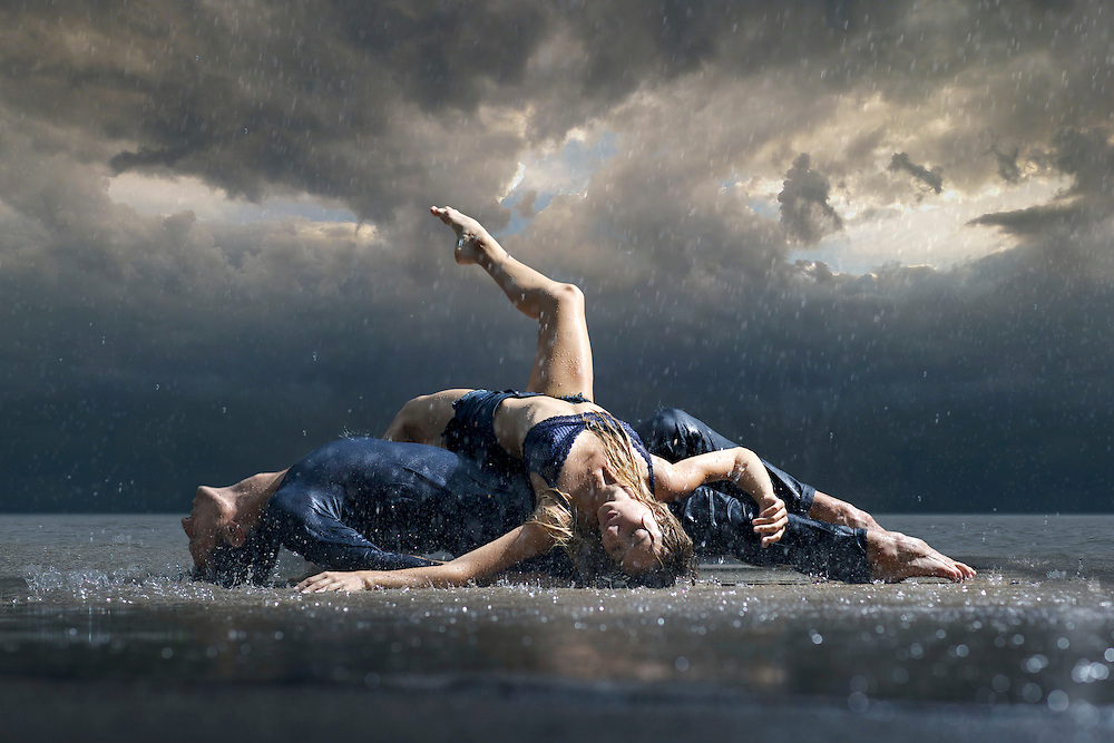 ballerina, ballet, dancer, dancers, person, woman, man, rain, wet, clouds, cloudy, cloud, in colour, in color, people, water