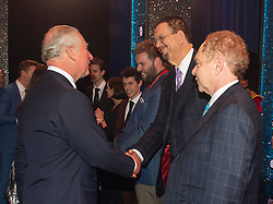 Embargoed to 0001 Tuesday November 13 The Prince of Wales meeting American magicians Penn & Teller after the We Are Most Amused and Amazed performance at the London Palladium.