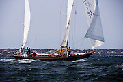 Bolero sailing in the Museum of Yachting Classic Yacht Regatta.