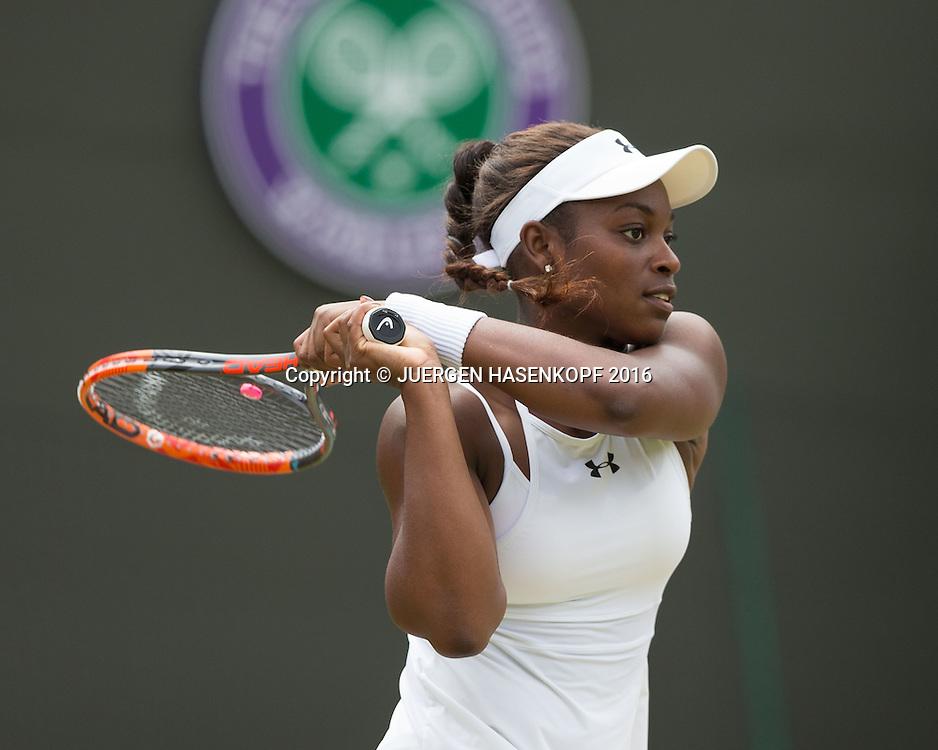 SLOANE STEPHENS (USA)<br /> <br /> Tennis - Wimbledon 2016 - Grand Slam ITF / ATP / WTA -  AELTC - London -  - Great Britain  - 3 July 2016.