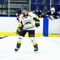 1st year defence man Jensen Smigelsky (22) of the Regina Cougars in action during the Women's Hockey home game on October 14 at Co-operators arena. Credit: Arthur Ward/Arthur Images