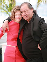 Actress Céline Sallette and Director Tony Gatlif at the photo call for the film Geronimo, at the 67th Cannes Film Festival, Tuesday 20th May 2014, Cannes, France.