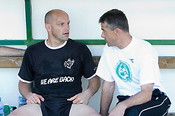 Goalkeeper Robert Volk and Coach of Olimpija Janez Pate at final match of 2nd SNL league between NK Olimpija in NK Aluminij, on May 23, 2009, ZAK, Ljubljana, Slovenia. Aluminij won 2:1. NK Olimpija is a Champion of 2nd SNL and thus qualified to 1st Slovenian football league for season 2009/2010. (Photo by Vid Ponikvar / Sportida)
