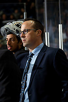 KELOWNA, BC - DECEMBER 18:  Kelowna Rockets assistant coach Kris Mallette stands on the bench against the Vancouver Giants at Prospera Place on December 18, 2019 in Kelowna, Canada. (Photo by Marissa Baecker/Shoot the Breeze)