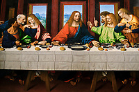 France, Paris, musée du Louvre, La Cène, Marco d'Oggiono, d'après Léonard de Vinci // France, Paris, Louvre museum, The Last Supper, Marco d'Oggiono, after Leonardo da Vinci