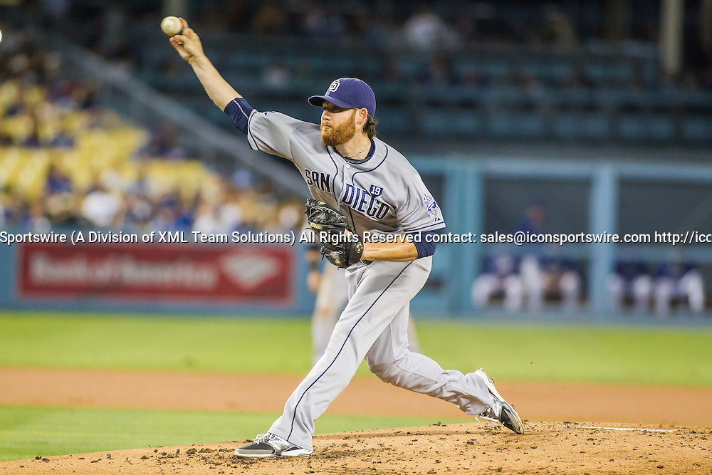 10 Sept 2014: San Diego Padres Starting pitcher Ian Kennedy (22) [6551] delivers during the Major League Baseball game between the Los Angeles Dodgers and the San Diego Padres at Dodger Stadium in Los Angeles, CA.