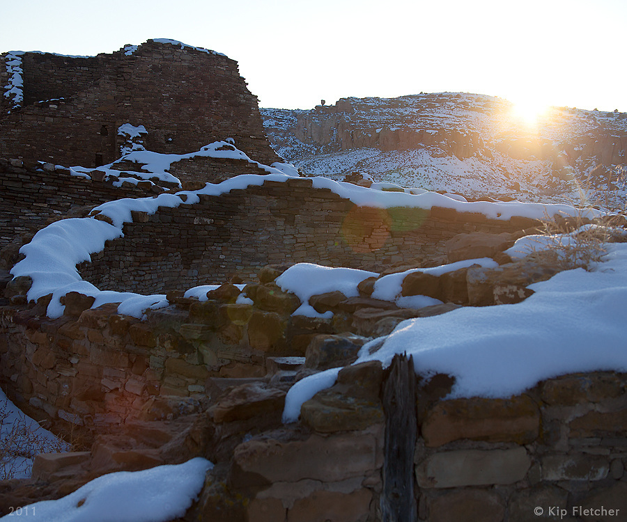 Winter Solstice at Chaco Canyon. I. Chaco Canyon, New Mexico - Winter Solstice, 12/21/2011.