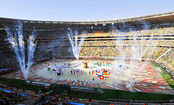 Opening Ceremony ceremony of the 2010 FIFA World Cup South Africa Group A match between South Africa and Mexico at Soccer City Stadium on June 11, 2010 in Johannesburg, South Africa.