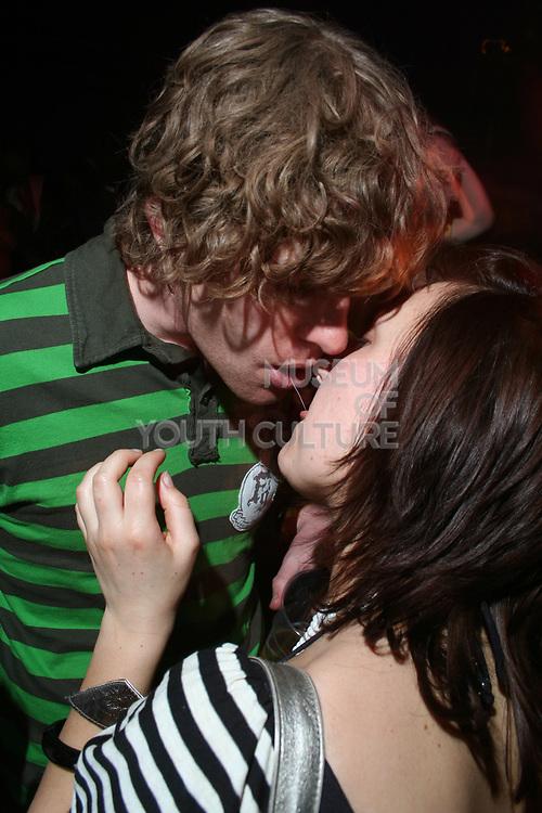 Boy and girl kissing, Masonic Place, Nottingham.