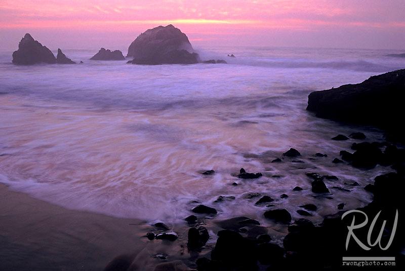 Seals Rocks at Twilight, San Francisco, California