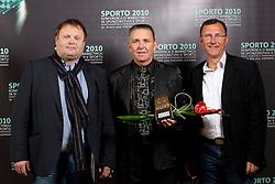 Bojan Zmavc, Ivo Tomc and Andrej Jelenc of Sloka 2010 during Sporto  2010 Gala Dinner and Awards ceremony at Sports marketing and sponsorship conference, on November 29, 2010 in Hotel Slovenija, Portoroz/Portorose, Slovenia. (Photo By Vid Ponikvar / Sportida.com)