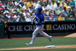 OAKLAND, CA - JULY 23:  Josh Donaldson #20 of the Toronto Blue Jays rounds the bases after hitting a home run against the Oakland Athletics during the fifth inning at O.co Coliseum on July 23, 2015 in Oakland, California. The Toronto Blue Jays defeated the Oakland Athletics 5-2. (Photo by Jason O. Watson/Getty Images) *** Local Caption *** Josh Donaldson