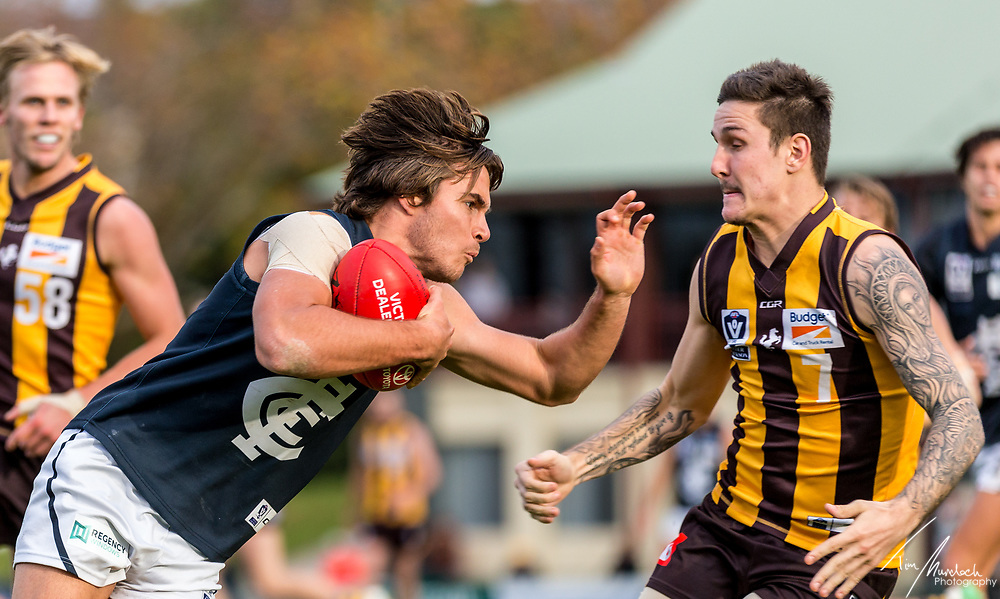 Saturday 19 May 2018<br /> <br /> 201VFL Season<br /> <br /> Box Hill Hawks vs Northern Blues<br /> Box Hill City Oval<br /> <br /> #BoundByBlue # Northbound<br /> <br /> Photo Credit: Tim Murdoch/Tim Murdoch Photography