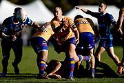 Robbie Smith of North Otago makes a pass during the Ranfurly Shield match between Otago and North Otago, held at Whitestone Contracting Stadium, Oamaru, New Zealand, 26 July 2019. Credit: Joe Allison / www.Photosport.nz