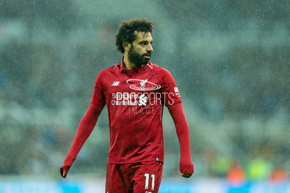 Mohamed Salah (#11) of Liverpool during the Premier League match between Newcastle United and Liverpool at St. James's Park, Newcastle, England on 4 May 2019.