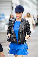 Blue Fuzzy Cap, Outside Dries van Noten