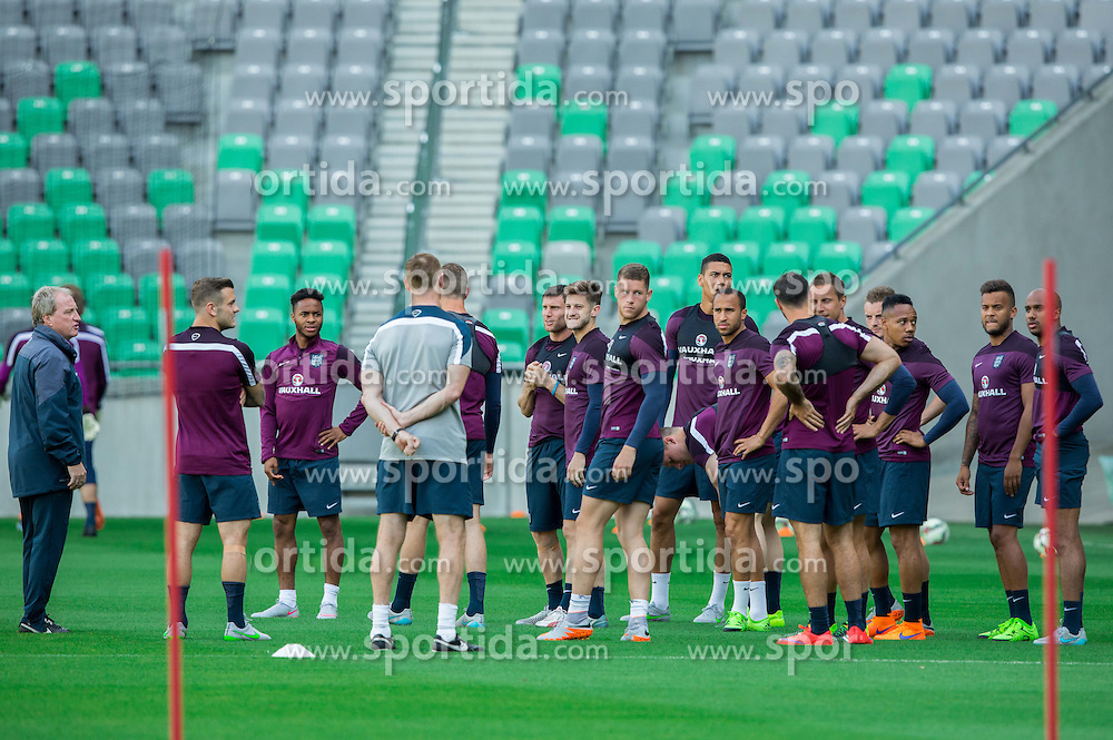 Players during practice session of England National Football Team 1 day before Euro 2016 Qualifications match against Slovenia, on June 13, 2015 in SRC Stozice, Ljubljana, Slovenia. Photo by Vid Ponikvar / Sportida