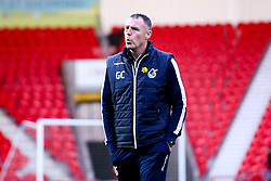 Bristol Rovers manager Graham Coughlan arrives at Doncaster Rovers - Mandatory by-line: Robbie Stephenson/JMP - 26/03/2019 - FOOTBALL - Keepmoat Stadium - Doncaster, England - Doncaster Rovers v Bristol Rovers - Sky Bet League One