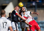 Dundee&rsquo;s Mark O&rsquo;Hara and Kilmarnock&rsquo;s Gary Dicker - Dundee v Kilmarnock in the Ladbrokes Scottish Premiership at Dens Park, Dundee. Photo: David Young<br /> <br />  - &copy; David Young - www.davidyoungphoto.co.uk - email: davidyoungphoto@gmail.com