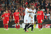 Goalscorer Coke of Sevilla during the Europa League Final match between Liverpool and Sevilla at St Jakob-Park, Basel, Switzerland on 18 May 2016. Photo by Phil Duncan.