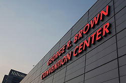 Stock photo of the George R. Brown Convention Center in downtown Houston Texas