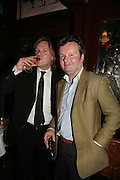 James Turner and Alan O'Sullivan, PJ's Annual Polo Party . Annual Pre-Polo party that celebrates the start of the 2007 Polo season.  PJ's Bar & Grill, 52 Fulham Road, London, SW3. 14 May 2007. <br /> -DO NOT ARCHIVE-© Copyright Photograph by Dafydd Jones. 248 Clapham Rd. London SW9 0PZ. Tel 0207 820 0771. www.dafjones.com.