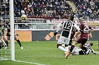 gol Alex Sandro Juventus Goal celebration <br /> Torino 18-02-2018 Stadio Olimpico Grande Torino Calcio Serie A 2017/2018 Torino - Juventus Foto Image Sport / Insidefoto