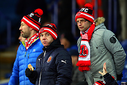 Fleetwood Town fans arrive at The King Power Stadium for the FA Cup Third Round Replay against Leicester City - Mandatory by-line: Robbie Stephenson/JMP - 16/01/2018 - FOOTBALL - King Power Stadium - Leicester, England - Leicester City v Fleetwood Town - Emirates FA Cup third round proper