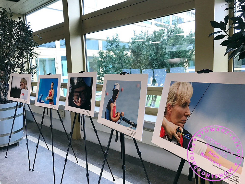 """Warsaw, Poland - 2017 April 07: Photo exhibition """"Big Blue"""" of Adam Nurkiewicz while The Day of Health - science conference in the National Library on April 07, 2017 in Warsaw, Poland.<br /> <br /> Mandatory credit:<br /> Photo by © © Adam Nurkiewicz / Mediasport / Mediasport<br /> <br /> Picture also available in RAW (NEF) or TIFF format on special request.<br /> <br /> Any editorial, commercial or promotional use requires written permission from the author of image.<br /> <br /> Adam Nurkiewicz declares that he has no rights to the image of people at the photographs of his authorship."""
