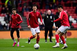 Filip Benkovic of Bristol City warms up prior to kick off  - Mandatory by-line: Ryan Hiscott/JMP - 22/02/2020 - FOOTBALL - Ashton Gate - Bristol, England - Bristol City v West Bromwich Albion - Sky Bet Championship